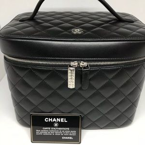 CHANEL Coco Voyage Black Make up Bag/ Case